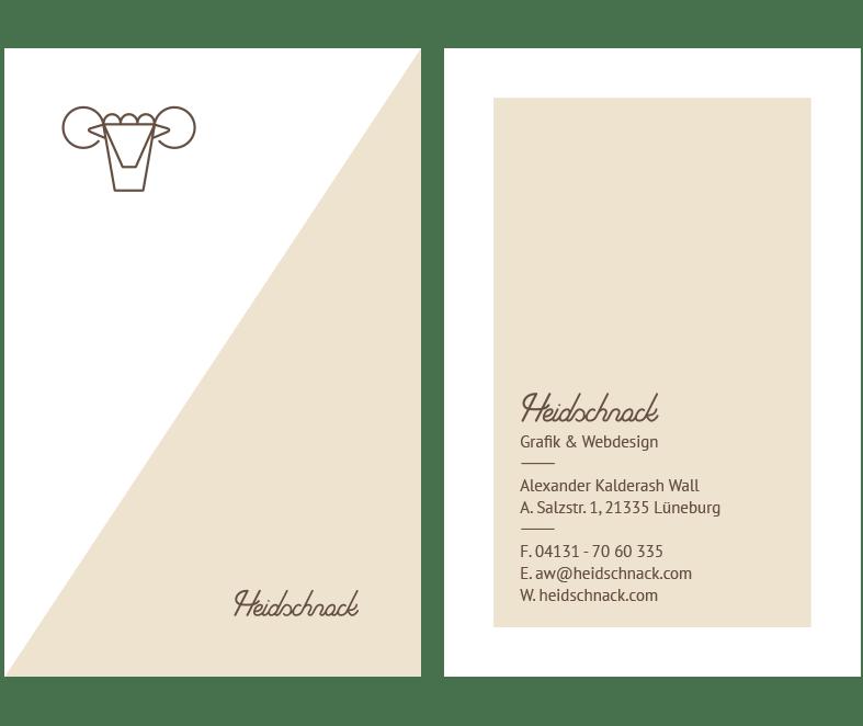 Heidschnack erstellt Visitenkarten.