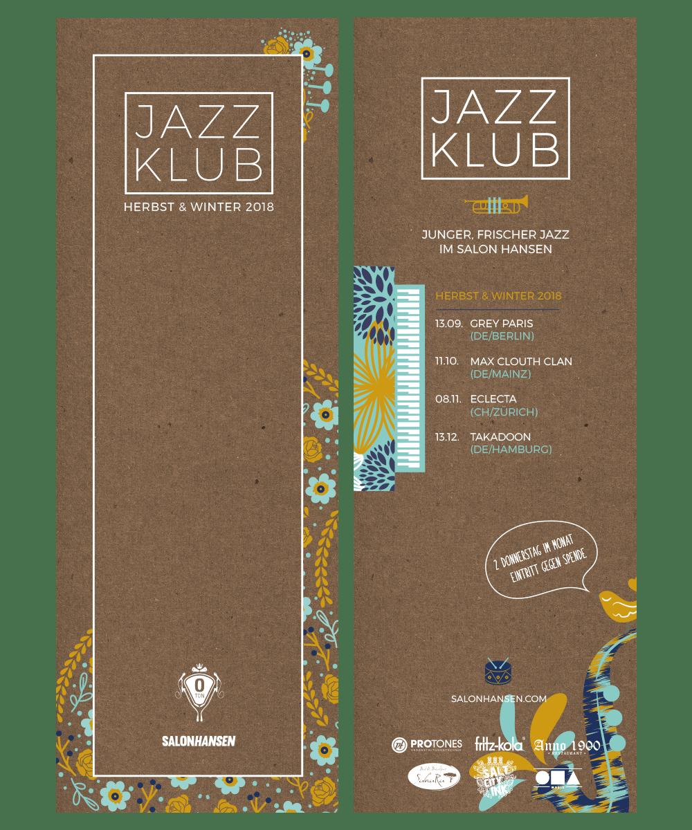 Flyer und Poster Design für den Jazzklub in Lüneburg.